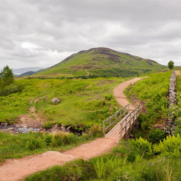 The West Highland Way near the devils staircase in Loch Lomond and Trossachs National Park