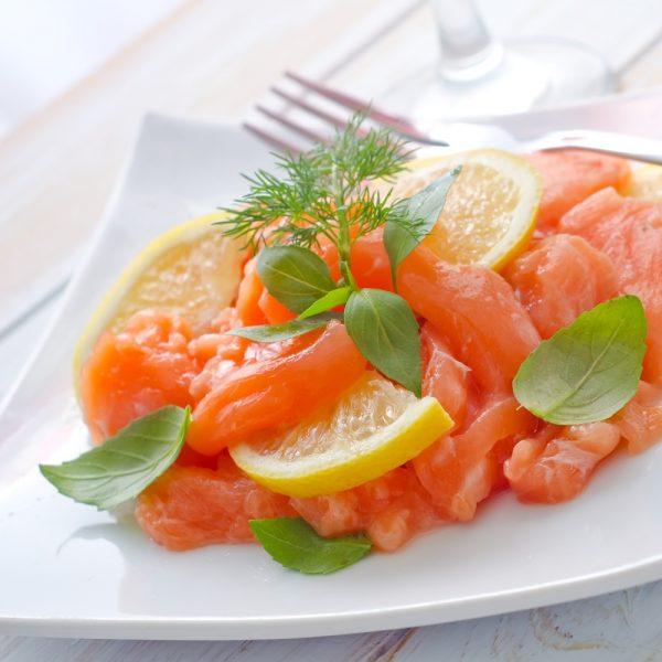 A plate Scottish Salmon