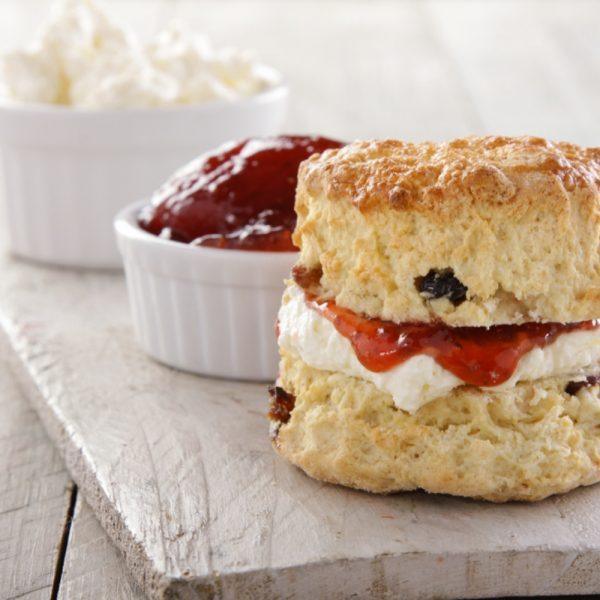 Scottish Scones with jam and clotted cream