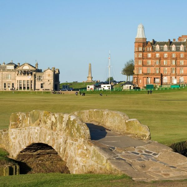 St Andrews Old Course, golf course on a sunny day
