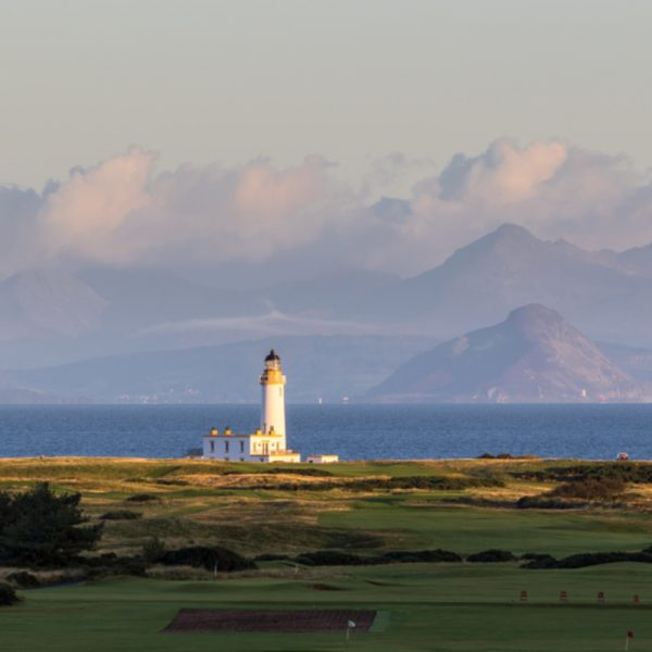 Turnberry Golf Course looking over to the lighthouse