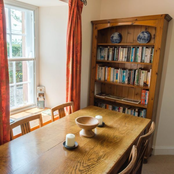Ballat Smithy Cottage bookcase & dining table