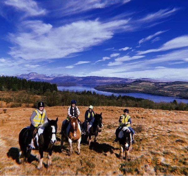 Pony trekking near Loch Lomond